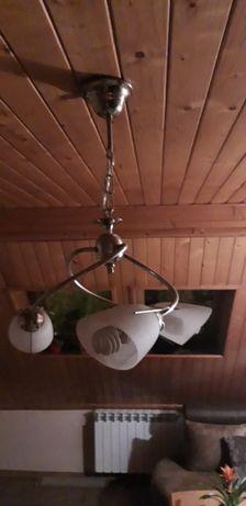 Żyrandol / lampa wisząca + lampa ścienna komplet