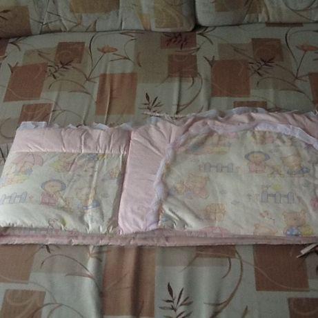 Защита на детскую кроватку и дополнительные карманы (б/у)