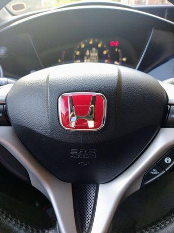Emblemat znaczek kierownicy Honda Civic VIII ufo CZARNY