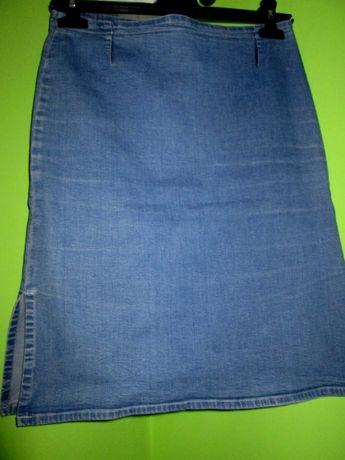 spódnica jeansowa mini wyszczuplająca - roz. 38