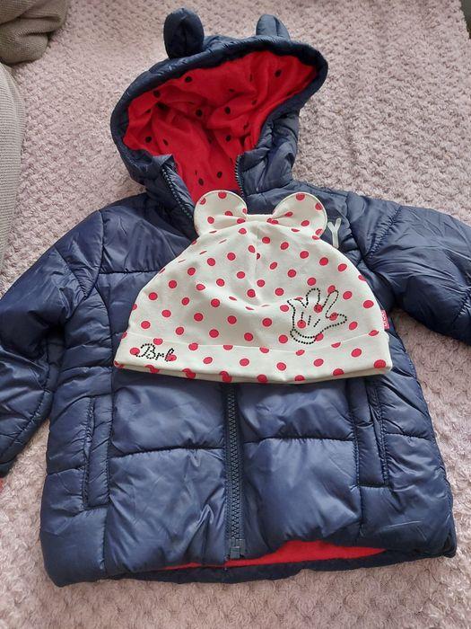 Kurteczka i czapka jesienna dla dziewczynki Rokietnica - image 1