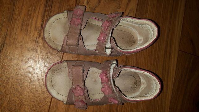 Sandały 26 EMEL skórzane sandałki rożowe