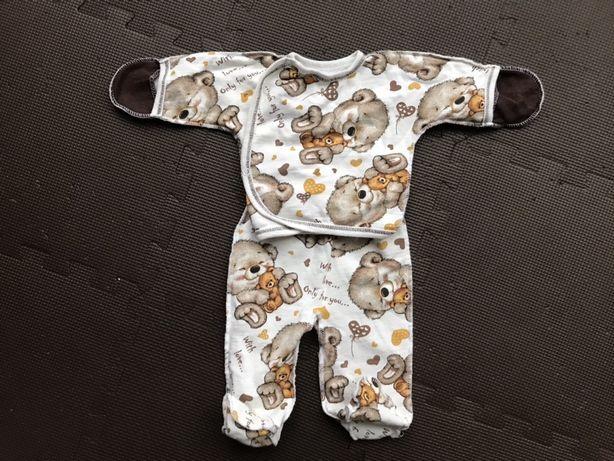 Теплый комплект (костюм) для новорожденных 56р