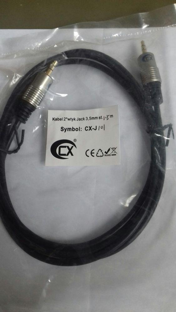 Kabel, przewód Jack 3.5mm 1.5m Hi Line.