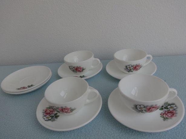 Conjunto Antigo Chávenas de Café Arcopal France