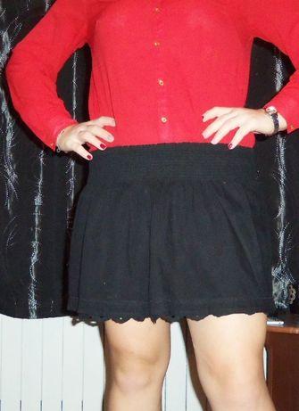 Spódniczka mini, czarna, H&M, 152