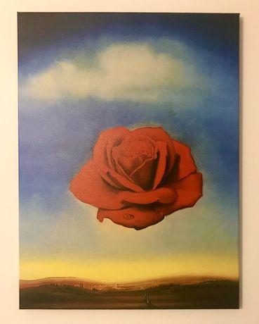 Duży obraz medytujaca róża Dali reprodukcja 60x80