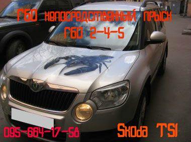 Газ на авто Гбо непосредственный впрыск на Skoda TSI, fsi,gdi,tfsi