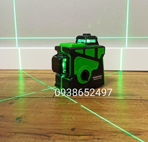 Лазерный уровень PRACMANU 3d яркий зелёный луч