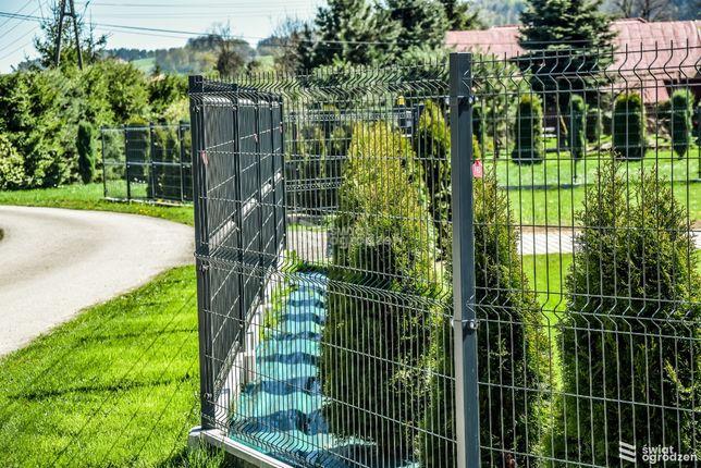 Kompletne ogrodzenie panelowe 153 cm oc+ral z podmurówką.PROMOCJA!!
