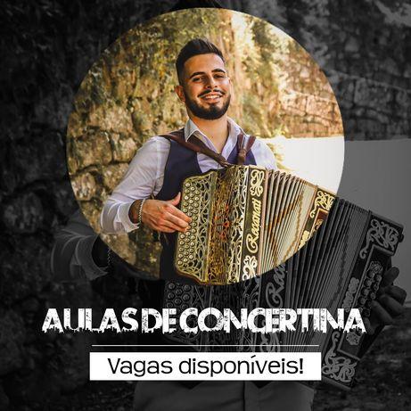 Aulas de Concertina - Presencial e Online