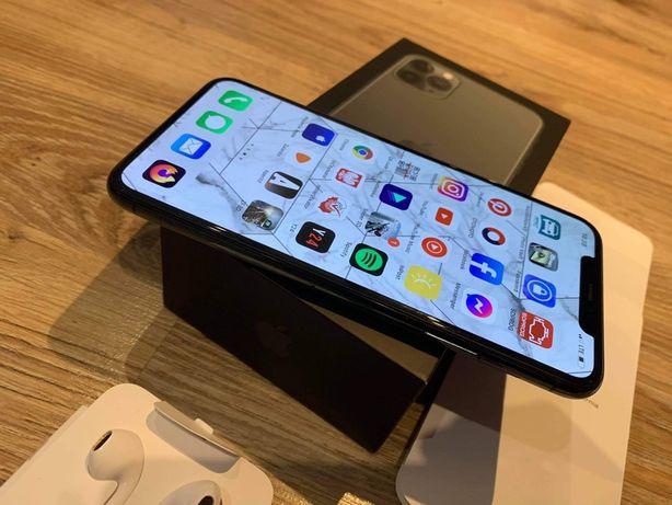 j.NOWY Apple iPhone 11 Pro MAX 64gb Midnight Green Gwar.+ AirPods Pro