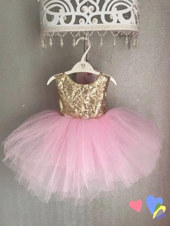 Пышное фатиновое платье с пайетками на 1 годик, 2 годика.