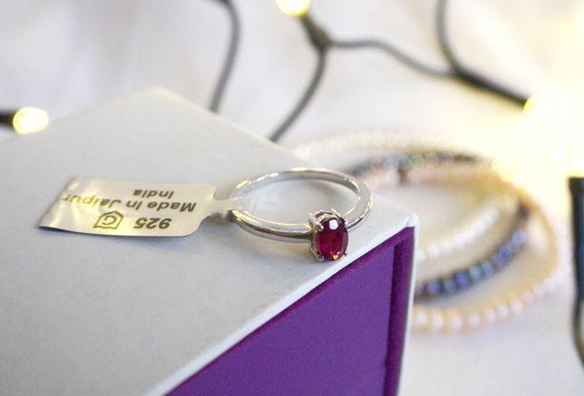 Nowy pierścionek z kolekcji Annabella - śliczny, czerwony rubin