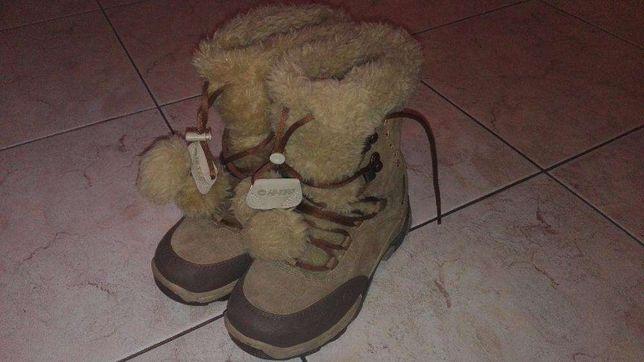 Buty skórzane kozaki śniegowce zimowe Hi-Tec roz. 34