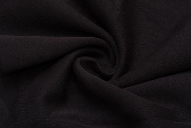 Ткань трехнитка на флисе, черный.