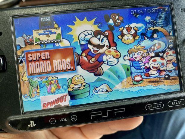 Sony PSP Gry Minecraft, Mario Bros, Angry birds
