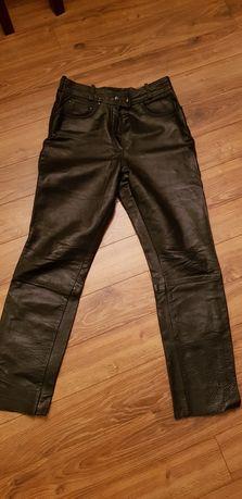 Skórzane spodnie motocyklowe damskie