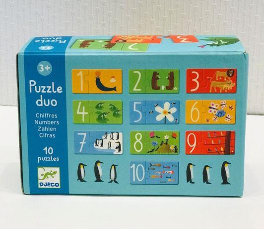 Пазлы djeco puzzle duo, джеко, игра Посчитай