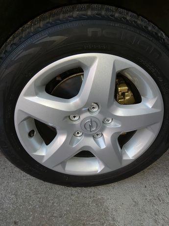 Zamienię kola 16 cali opel 5x110 na 17 5x110 plus nowe kolpaki GM.