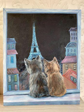 Картина Париж вечірній