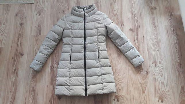 Pepco kurtka płaszcz pikowana zimowa beżowa r. 36