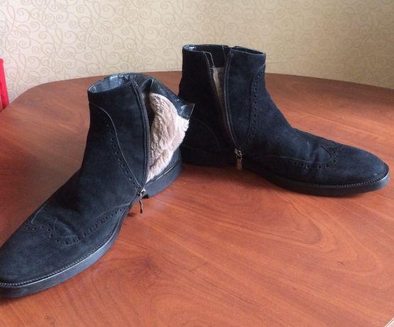 Ботинки мужские зимние замшевые классика Италия 41 размер
