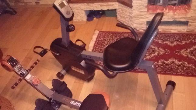 fitnes rowerek + ławeczka wioslarska+ twist
