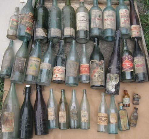 Butelka butelki 2RP Okupacja i inne po winie piwie wódce spirytusie 1.