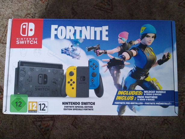 Konsola Nintendo Switch edycja specjalna Fortnite