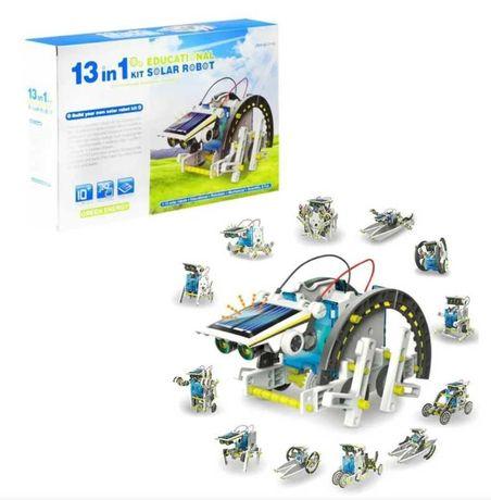 Конструктор робот на солнечных батареях Solar Robot 13 в 1 детский