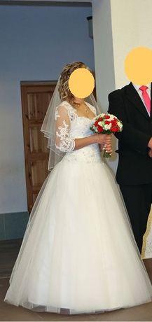 Suknia ślubna rozmiar 36/38 księżniczka