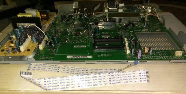 Płyta główna, tranzystor, rezystor, moduł zasilania, port USB, EURO AV