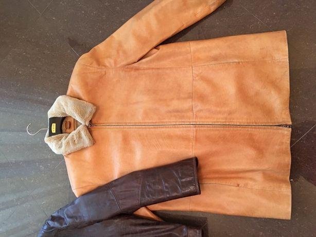 Dwie duże skórzane kurtki xxl /xxxl