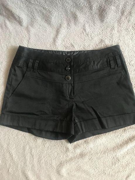 Szorty czarne bawełniane