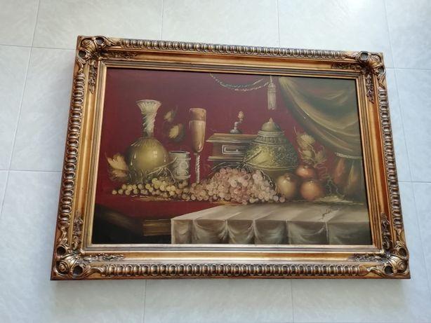 Quadro decorativo óleo sobre tela antigo