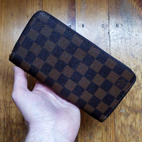 Кошелек Louis Vuitton на змейке клатч гаманець портмоне унисекс канва