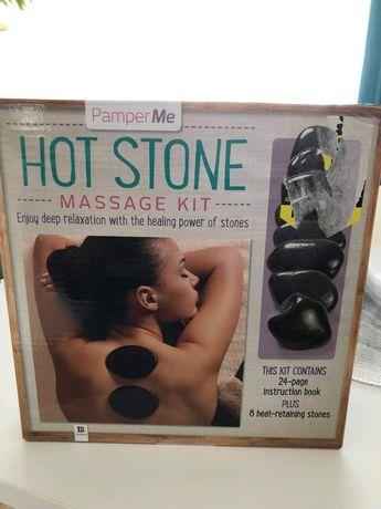 Hot Stone , Gorące kamienie, 8sztuk + instrukcja masażu