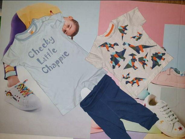 Комплект вещей летних для мальчика 3-6 мес. Песочник, футболка, штаны