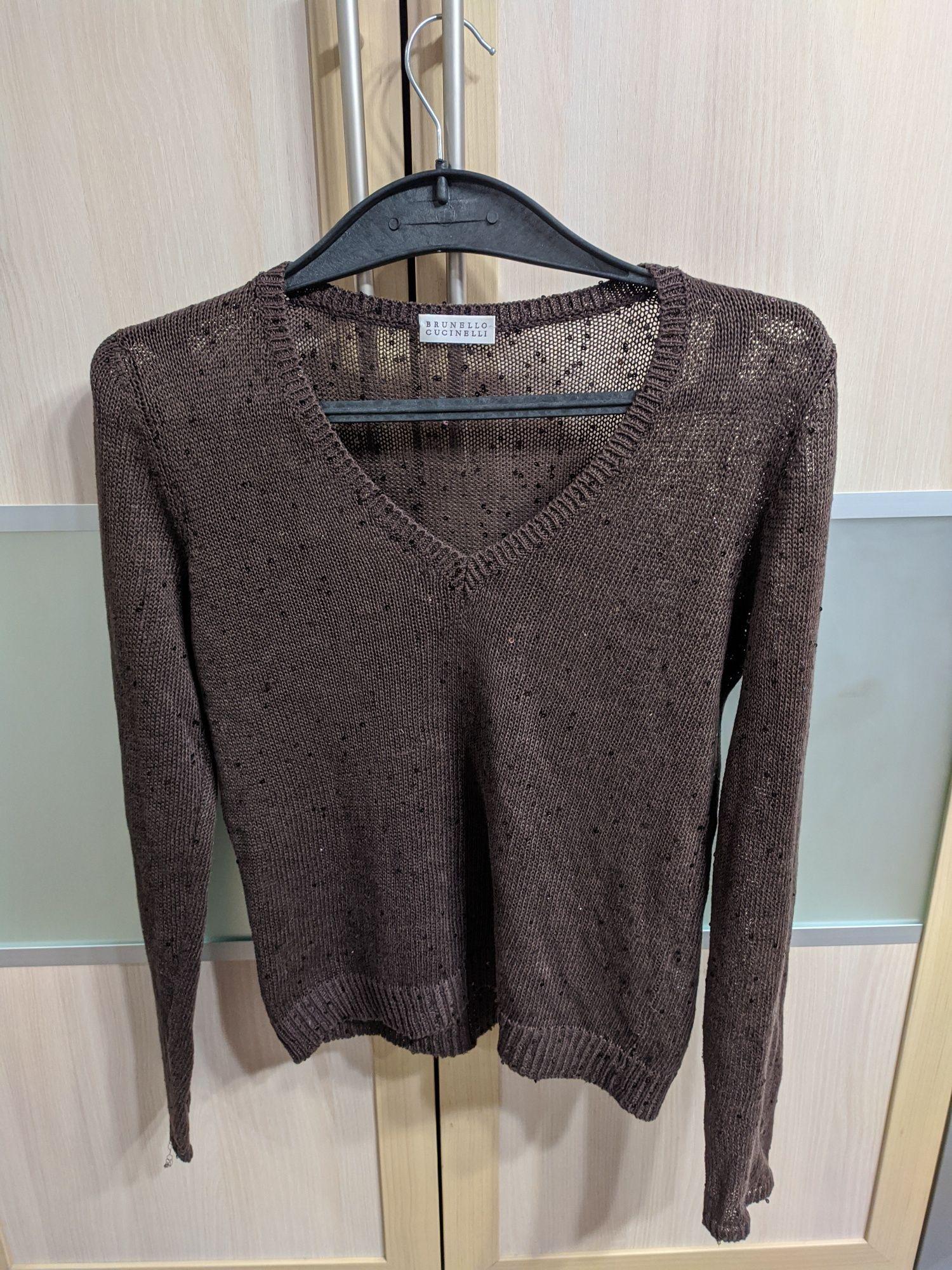 Brunello Cucinelli свитер кофта Джемпер оригинал винтаж лён шелк