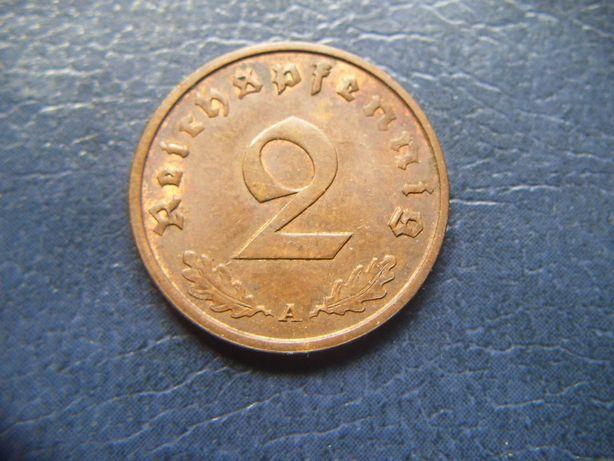 Stare monety 2 reichsfenigi 1937 A Niemcy