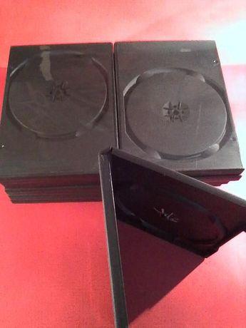 18 Capas de DVD Duplas Pretas de 14mm novas nunca usado