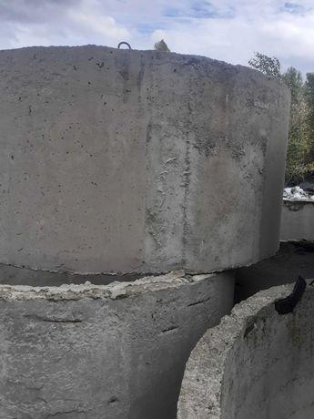 Кольца бетонные  3м диаметр   1,5м высота