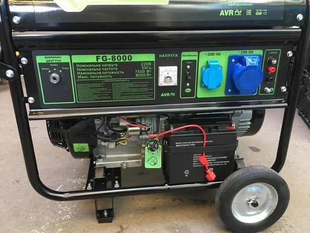 Генератор 8квт FLINKE FG-8000 с электростартером 8000watt Польша,цена!