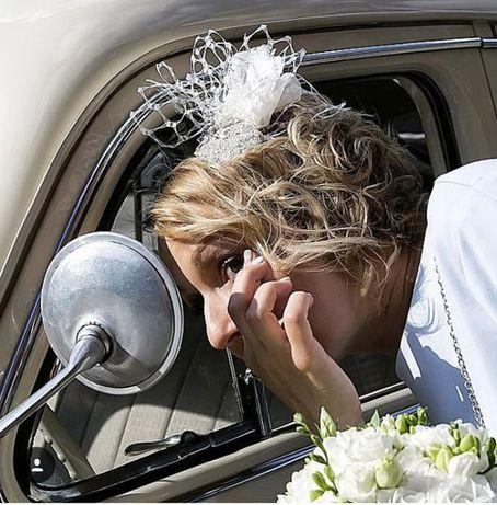 fascynator ślubny toczek ślubny