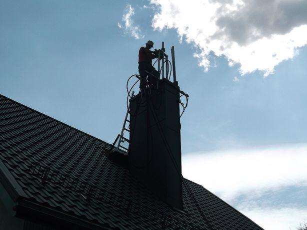 Wkłady kominowe stalowe ceramiczne frezowanie uszczelnianie kominów