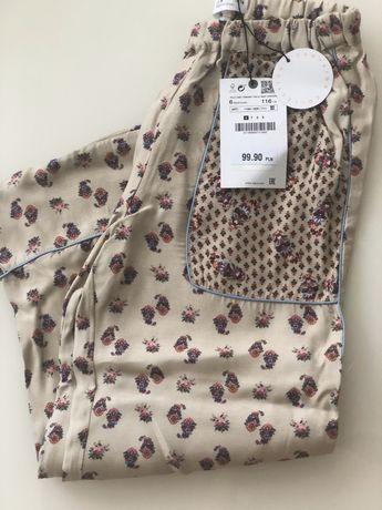 Zara Campain Colection* spodnie piżamowe 116