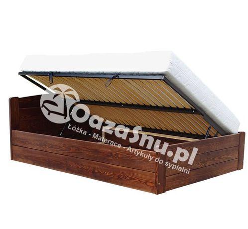 łóżko sosnowe otwierane z boku ze stelażem elastycznym ONYX 80x200