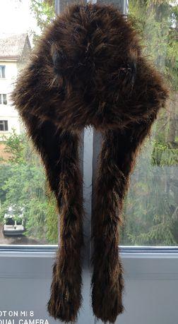 Меховая шапка, Шапоушки, волк, медведь с кармашками