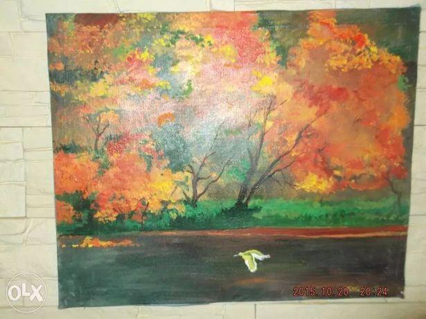Obrazy malowane na płótnie - 50zł 4 szt.